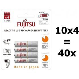 Fujitsu - Fujitsu AAA R3 HR-4UTC 800mAh Oplaadbare Batterijen - AAA formaat - BL213-10x www.NedRo.nl