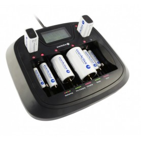 EverActive - AA AAA C D 9V Professional 8 kanaals lader - Batterijladers - BL218 www.NedRo.nl