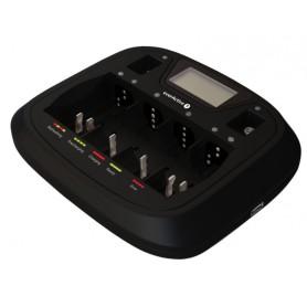 AA AAA C D 9V Professional 8 kanaals lader