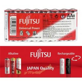Fujitsu, 8x Fujitsu Universal Power Alkaline LR6 AA, Format AA, BL222-CB, EtronixCenter.com