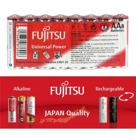 Fujitsu - 8x Fujitsu Universal Power Alkaline LR6 AA - Format AA - BL222 www.NedRo.ro