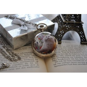 Unbranded, Cats/Kittens Pocket Watch Chain Watch / Mirror, Quartz, ZN068, EtronixCenter.com