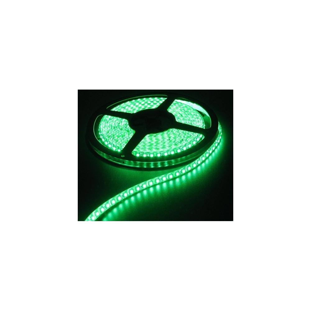1M Groen 12V Led Strip 60LED/M IP65 Wit PCB SMD5050 AL200-2