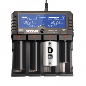 XTAR - XTAR DRAGON VP4 Plus Batterijlader - Batterijladers - NK177 www.NedRo.nl