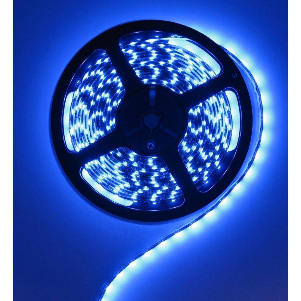 Unbranded - Blauw 12V LED Strip 60LED IP65 SMD3528 - LED Strips - AL041 www.NedRo.nl