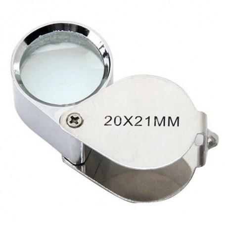 Oem, 20x Silver Mini Jewelry Loupe Magnifier Glass, Magnifiers microscopes, AL690