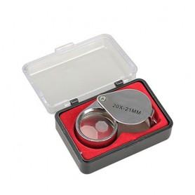 NedRo, 20x zilver juwelen vergrootglas loep, Loepen en Microscopen, AL690, EtronixCenter.com