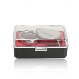 NedRo - 20x zilver juwelen vergrootglas loep - Loepen en Microscopen - AL690 www.NedRo.nl