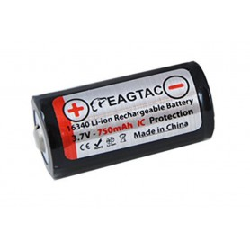 EagTac - EagTac 16340/RCR123A 750mAh 1.5A Rechargeable - Andere formaten - NK071-CB www.NedRo.nl