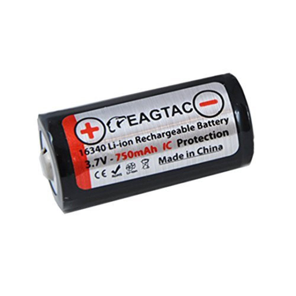 EagTac - EagTac 16340/RCR123A 750mAh 1.5A Rechargeable - Andere formaten - NK071 www.NedRo.nl