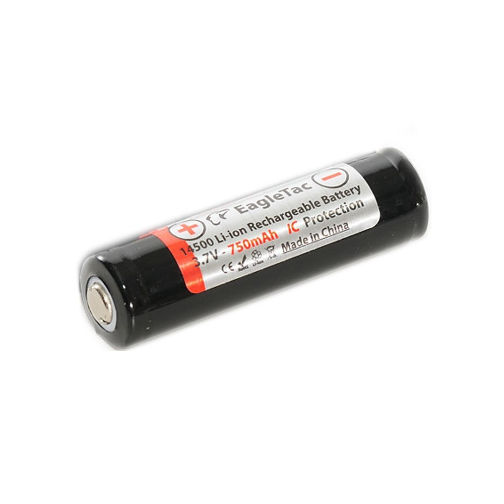 EagTac - EagTac 14500 750mAh 3,7V 1A (protected) - Andere formaten - NK155 www.NedRo.nl