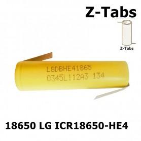 LG, LG 18650 LG ICR18650-HE4 20A 2500mAh, Size 18650, NK046-CB