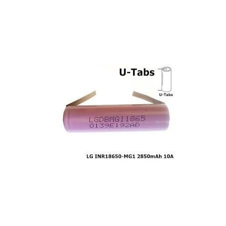 LG, 18650 LG INR18650-MG1 10A 2850mAh, Size 18650, NK047-CB