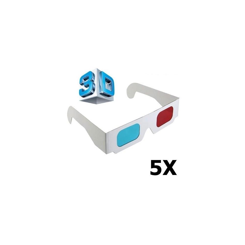 3D Red-Cyan Papieren Bril