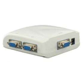 NedRo - VGA 4-weg monitor Splitter (beeld dupliceren, niet uitbreiden) - VGA adapters - YPI201-C www.NedRo.nl