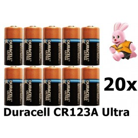 Duracell - Duracell CR123A Ultra Lithium batterij - Andere formaten - NK048-20x www.NedRo.nl