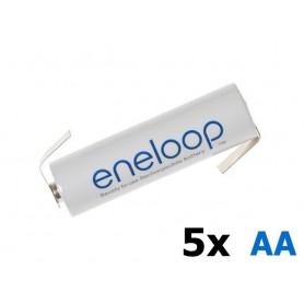 Panasonic - Eneloop Batterij AA HR6 R6 met Z-soldeerlipjes - AA formaat - NK003-5x www.NedRo.nl
