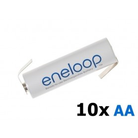 Eneloop - Panasonic Eneloop AA HR6 R6 battery with Z-tags - Size AA - NK003-10x www.NedRo.us