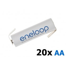 Eneloop - Panasonic Eneloop AA HR6 R6 battery with Z-tags - Size AA - NK003-20x www.NedRo.us