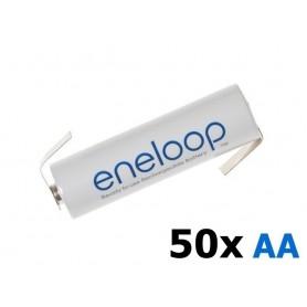 Panasonic - Eneloop Batterij AA HR6 R6 met Z-soldeerlipjes - AA formaat - NK003-50x www.NedRo.nl