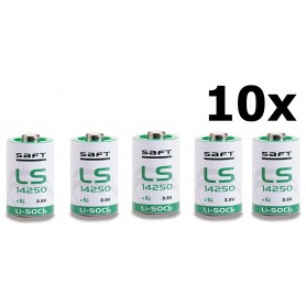 SAFT - SAFT LS14250 / 1/2AA Lithium batterij 3.6V - Andere formaten - NK095-10x www.NedRo.nl