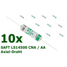 SAFT - LS14500 CNA / AA met soldeerdraden Lithium batterij - AA formaat - NK099-10x www.NedRo.nl