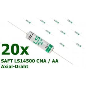 SAFT - LS14500 CNA / AA met soldeerdraden Lithium batterij - AA formaat - NK099-20x www.NedRo.nl