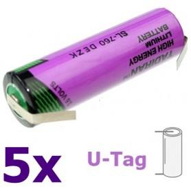 Tadiran - Tadiran SL-760 / 1/2 AA lithium battery 3.6V - Size AA - NK181-U-Tag-5x www.NedRo.us
