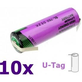 Tadiran - Tadiran SL-760 AA Lithium batterij 3.6V - AA formaat - NK181-U-Tag-10x www.NedRo.nl