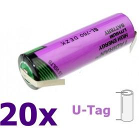 Tadiran - Tadiran SL-760 AA Lithium batterij 3.6V - AA formaat - NK181-U-Tag-20x www.NedRo.nl