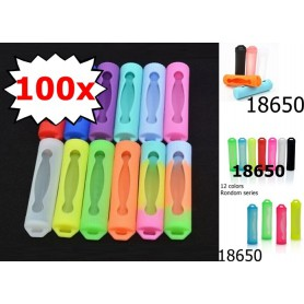 Oem - Silicone Holder Set for 18650 Battery - Battery accessories - NK122-CB