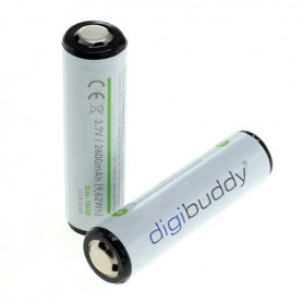 digibuddy - CE Approved 18650 2600mAh 3.7V 5A Li-ion rechargeable battery with PCB - Size 18650 - ON331-2x www.NedRo.us