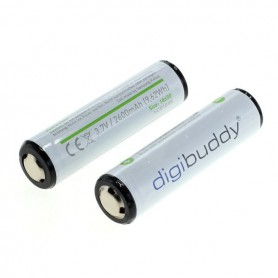 digibuddy - CE Goedgekeurd 18650 2600mAh 3.7V 5A Li-ion herlaadbare accu batterij met PCB - 18650 formaat - ON331-2x www.NedR...
