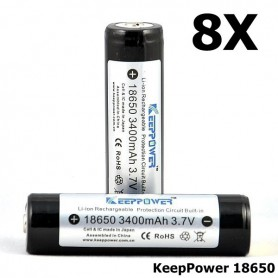 KeepPower - KeepPower 18650 Rechargeable battery 3400mAh - Size 18650 - NK297-CB www.NedRo.us