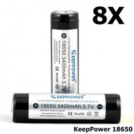 KeepPower - KeepPower 18650 Oplaadbare batterij 3400mAh - 18650 formaat - NK297-8X www.NedRo.nl
