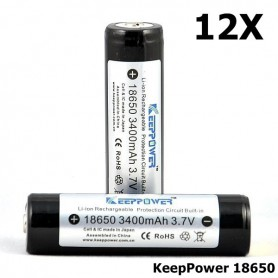 KeepPower - KeepPower 18650 Rechargeable battery 3400mAh - Size 18650 - BL014-12X www.NedRo.us