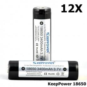 KeepPower - KeepPower 18650 Rechargeable battery 3400mAh - Size 18650 - NK297-12X www.NedRo.us