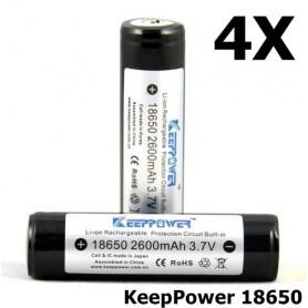 KeepPower - KeepPower 18650 2600mAh Oplaadbare batterij - 18650 formaat - NK217-4X www.NedRo.nl