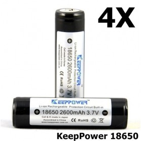 KeepPower - KeepPower 18650 2600mAh rechargeable battery - Size 18650 - NK217-4X www.NedRo.us