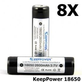 KeepPower - KeepPower 18650 2600mAh Oplaadbare batterij - 18650 formaat - NK217-8X www.NedRo.nl