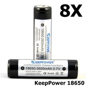 KeepPower - KeepPower 18650 2600mAh rechargeable battery - Size 18650 - NK217-8X www.NedRo.us