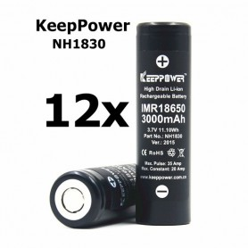 KeepPower - KeepPower 18650 NH1830 Rechargeable Battery - Size 18650 - BL013-12X www.NedRo.us