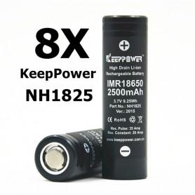 KeepPower - KeepPower 18650 NH1825 Oplaadbare batterij - 18650 formaat - BL012-8X www.NedRo.nl