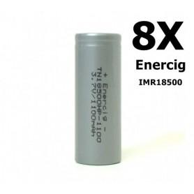 Enercig - Enercig IMR18500 Oplaadbare batterij 1100mAh - 22A - Andere formaten - NK143-8x www.NedRo.nl