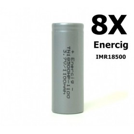 Enercig - Enercig IMR18500 Rechargeable battery 1100mAh - 22A - Other formats - NK143-8x www.NedRo.us