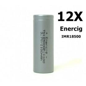Enercig - Enercig IMR18500 Oplaadbare batterij 1100mAh - 22A - Andere formaten - NK143-12x www.NedRo.nl