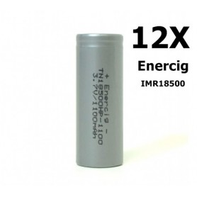 Enercig - Enercig IMR18500 Rechargeable battery 1100mAh - 22A - Other formats - NK143-12x www.NedRo.us