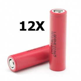 LG - LG IMR18650-HE2 18650 Rechargeable battery - Size 18650 - NK077-12X www.NedRo.us