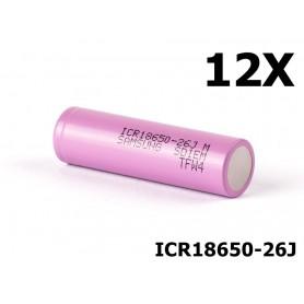 Samsung - 18650 Samsung ICR18650-26J 5.2A - 18650 formaat - NK044-12X www.NedRo.nl