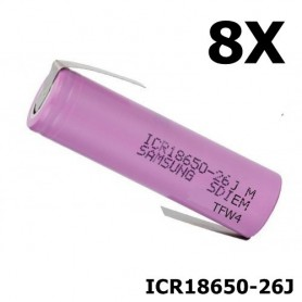Samsung - 18650 Samsung ICR18650-26J 5.2A - 18650 formaat - NK058-8X www.NedRo.nl